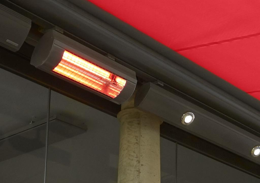 Awning lighting & heating